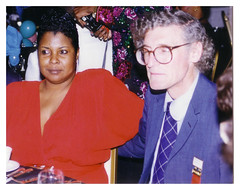 Future Local 689 president Golash and first woman officer Perrin: 1998