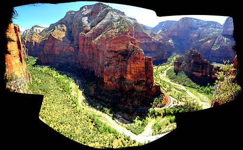 Postcard from Scouts Lookout - Zion Nationalpark, Utah - Panorama [explored]