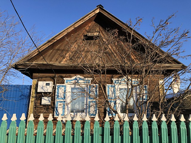 Casa típica siberiana en Khuzir, la capital de la isla de Olkhon (Lago Baikal)