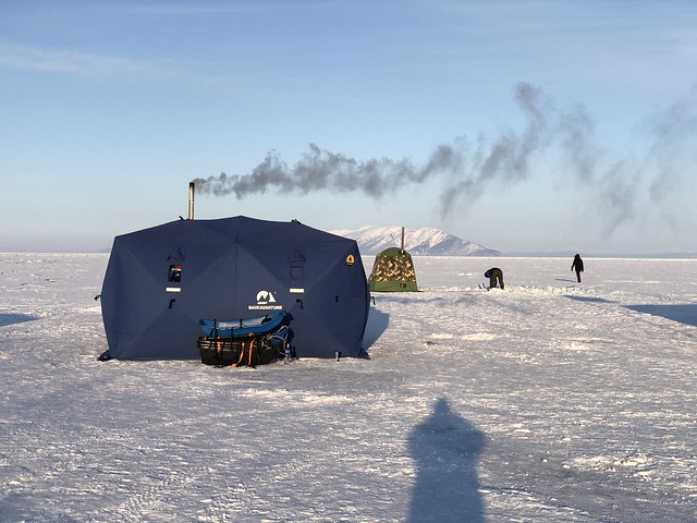 Ice Camp en el Lago Baikal