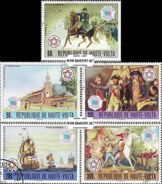 Známky Horná Volta 1976 200 rokov USA