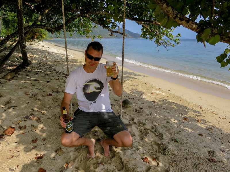 Me on Bang Bao beach enjoying a beer