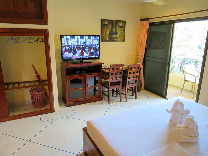 Flatscreen TV balcony at Top Resort in Deluxe room category