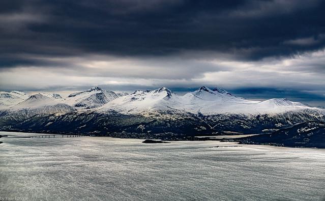 Mountains surrounding Molde, Norway.  739-2a