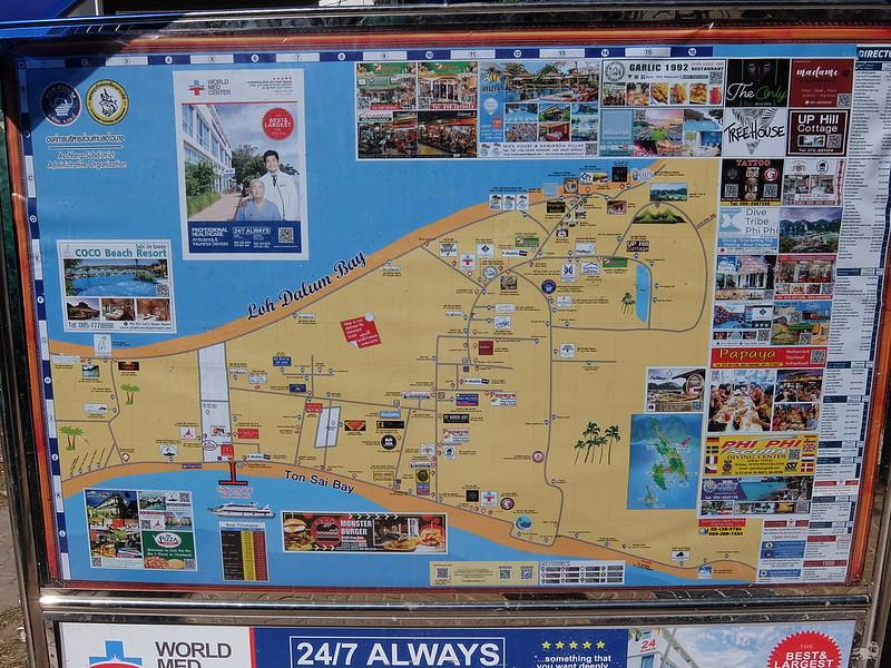 Пхи Пхи Дон - Карта острова
