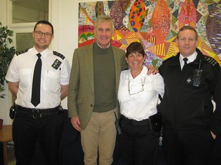 Richard with prison officers at HMP Verne | by Richard Drax MP