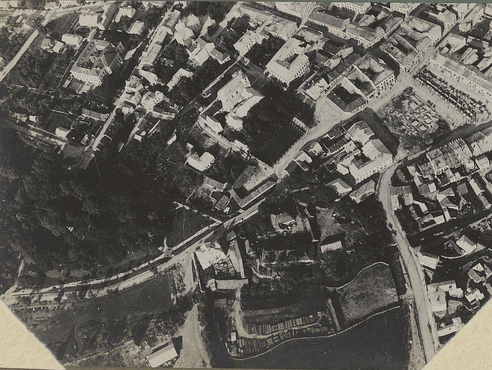 1915. Город Злочев, снятый с аэроплана