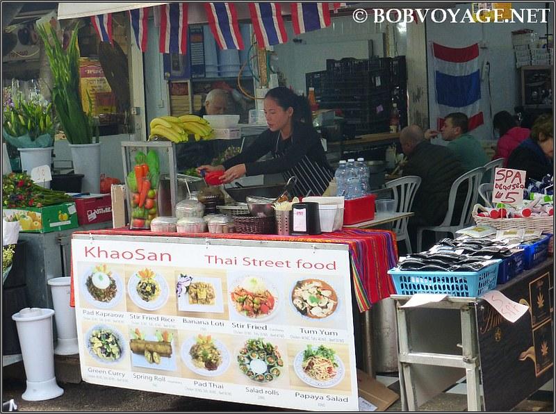 החזית לשוק של קאו סאן (Khao San)