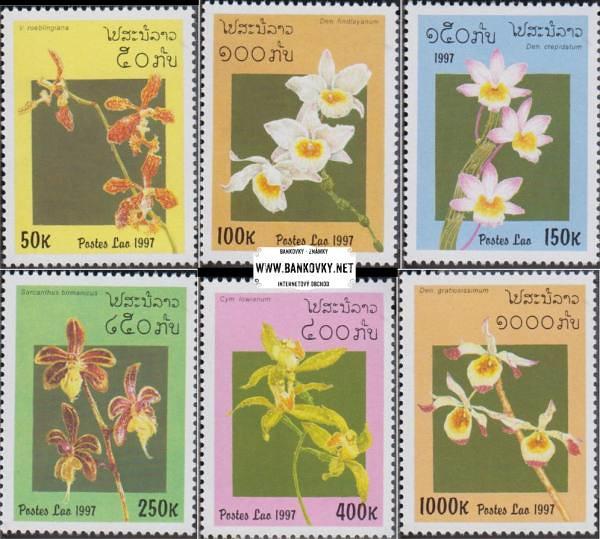 Známky Laos 1997 Orchideje razítkovaná séria