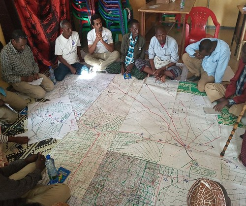 Participants drawing resource map of Filtu Woreda of the Somali region of Ethiopia