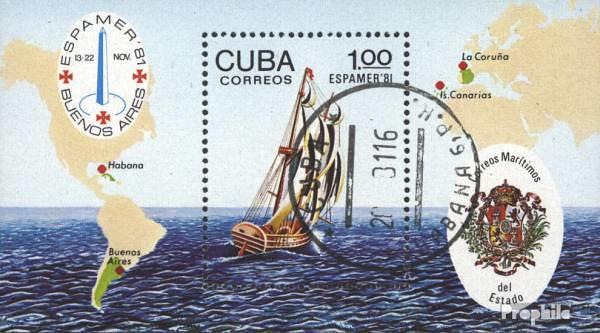 Známky Kuba 1981 ESPAMER razítkovaný hárček