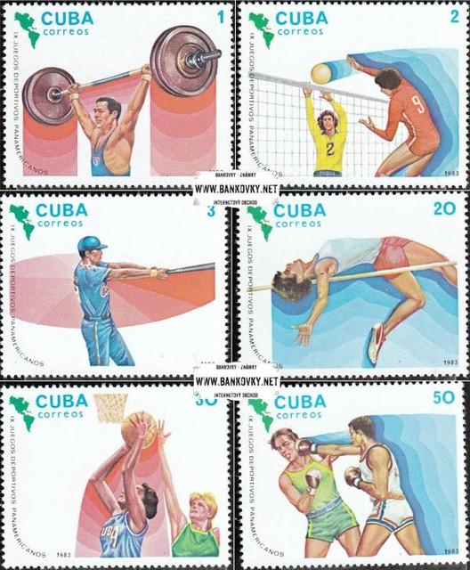Známky Kuba 1983 Pan Americké hry razítkovaná séria