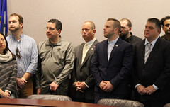 Rep. Fishbein joined colleagues, and restaurant owners, managers and employees during a press conference calling attention to government mandates that are harming the industry.