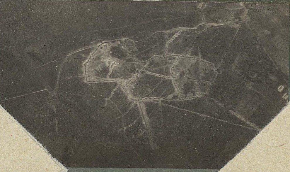 1915. Окопы в полях. Снято с аэроплана