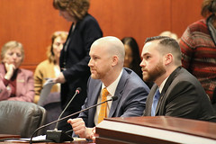 "State Representative Christopher Davis (R-57) and Ellington Schools Superintendent Dr. Scott V. Nicol testified before the Education Committee in support of HB 5378 ""An Act Concerning the Integration of Social-Emotional Learning in Programs of Professional Development for Educators in Connecticut."""