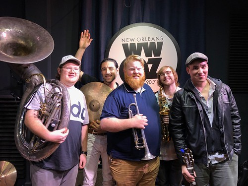 Doyle Cooper Jazz Band at WWOZ - March 11, 2020. Photo by Carrie Booher.