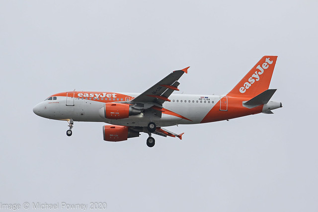 OE-LQA - 2009 build Airbus A319-111, on approach to Runway 23R at Manchester