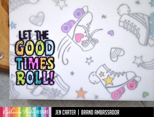 Let the Good Times Roll Vellum JDC Closeup