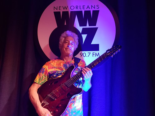 Phil DeGruy at WWOZ - March 11, 2020. Photo by Marion Hill.