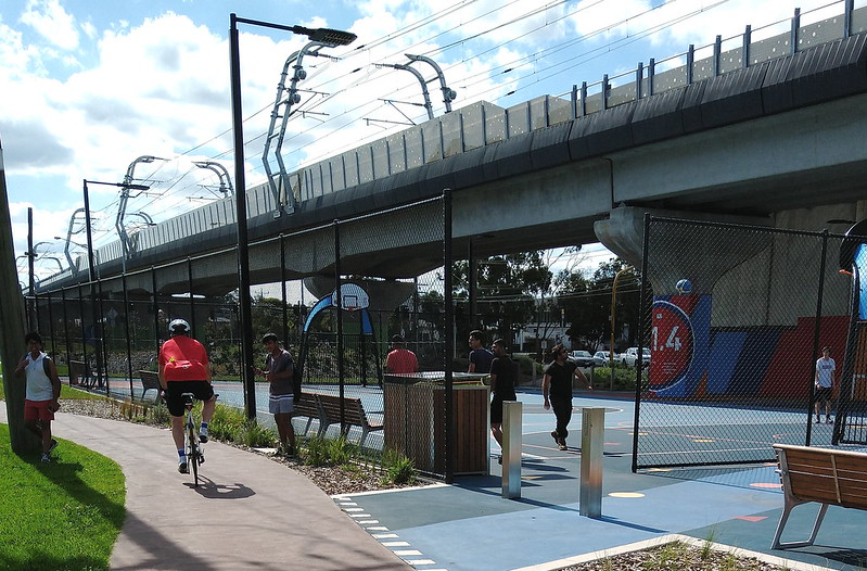 Space under the skyrail at Clayton South