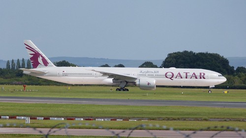 A7- BAV 'Qatar Airways'. Boeing 777-3DZER c/n 41740 on Dennis Basford's railsroadsrunways.blogspot.co.uk'
