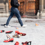 Woman's Shoes & the National Palace, Mexico City