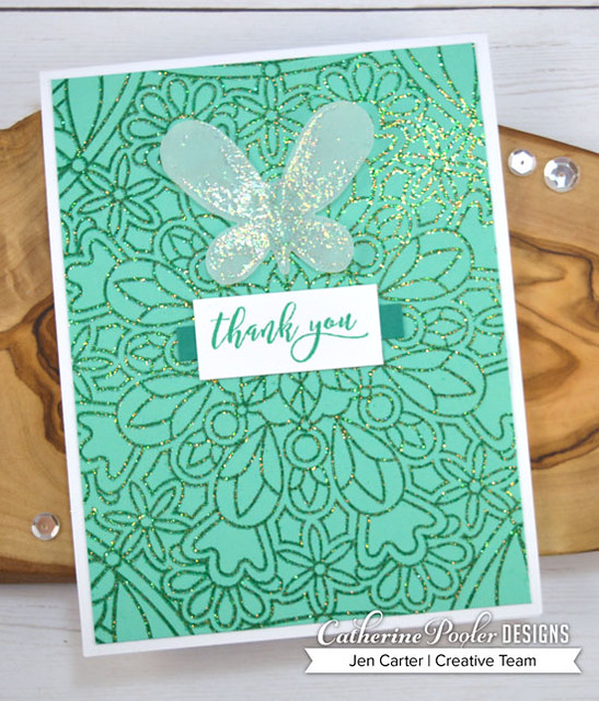A to Z Jen Carter Quick & Easy Mardi Gras Butterfly Thank You sized