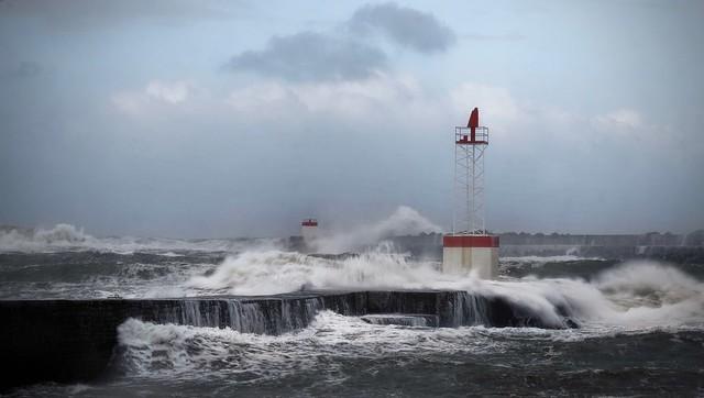 La sortie du port de Bayonne.