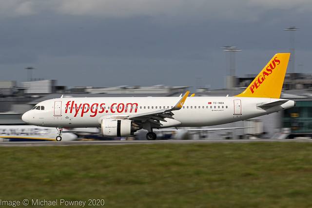 TC-NBA - 2016 build Airbus A320-251N, arriving on Runway 23R at Manchester