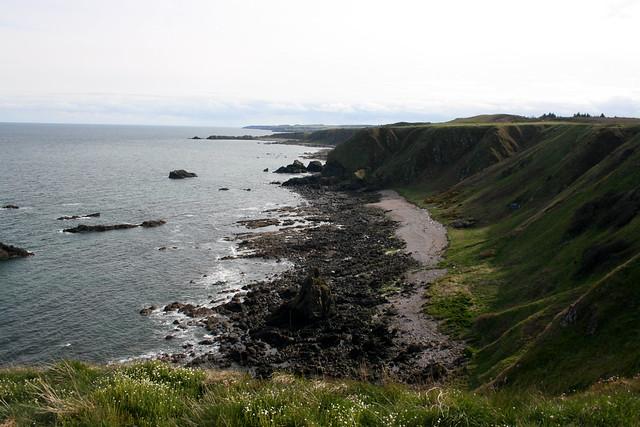 The coast north of Stonehaven Muchalls