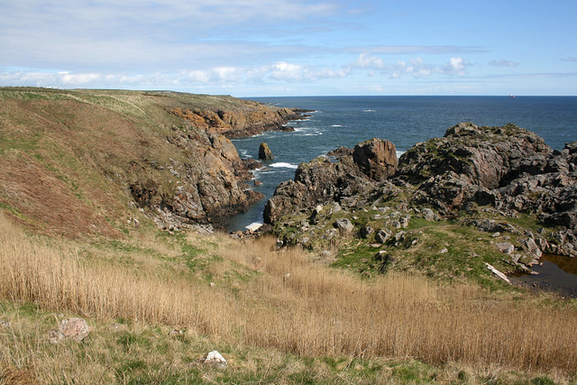 The coast at Cove Bay, Aberdeen