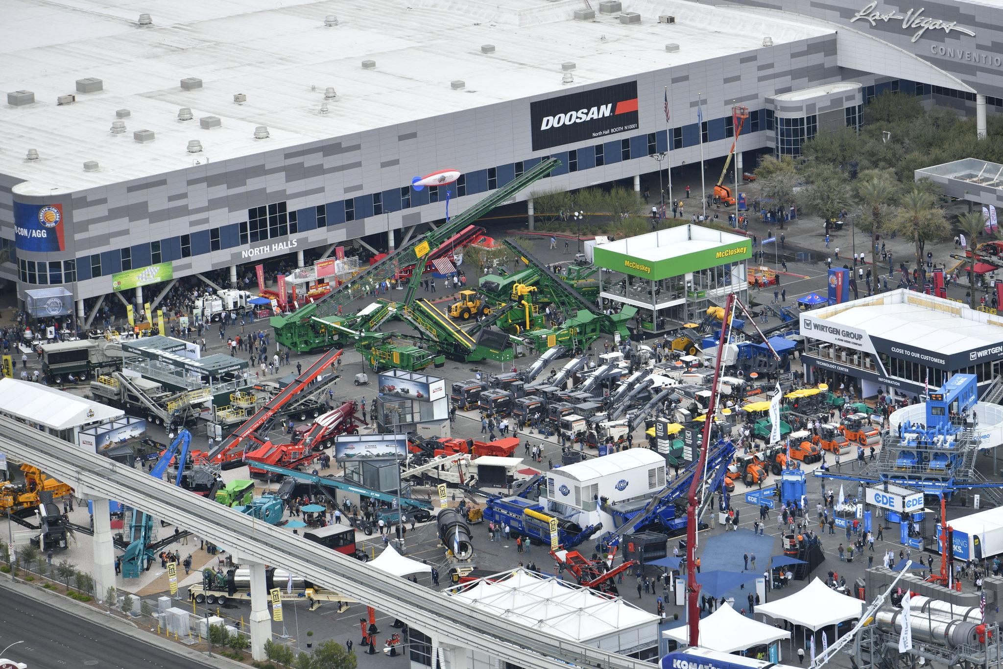 Bird's eye view of the convention | con expo 2020 tickets | conexpo 2020: con/agg largest construction trade show