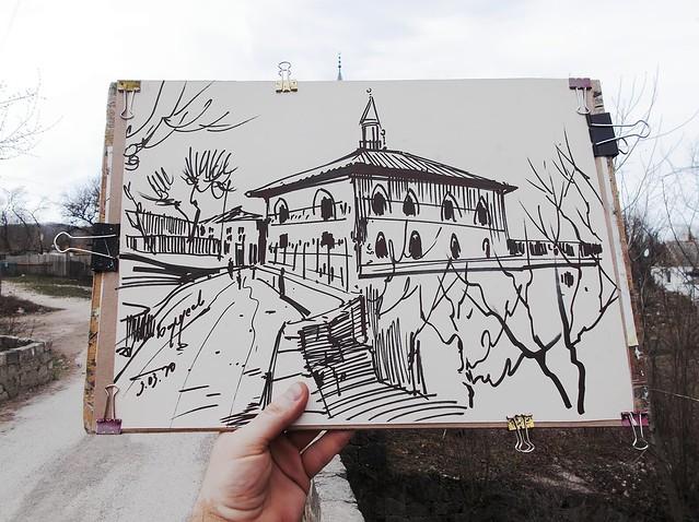 """2020.03.09 - drawing """"YUSUPOV'S MOSQUE IN SOKOLINOYE"""
