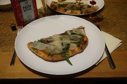 Geteilte Pizza Parma