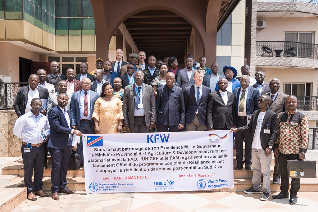 Launch of the joint FAO/UNICEF/WFP German-funded project in the Democratic Republic of the Congo