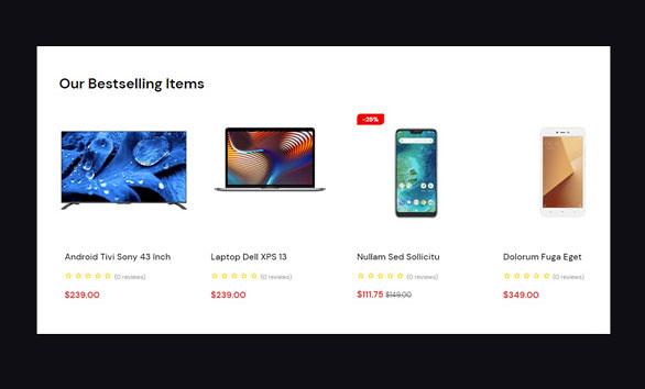 Leo Ditech Electronics & Gadgets PrestaShop Theme - Best-selling items