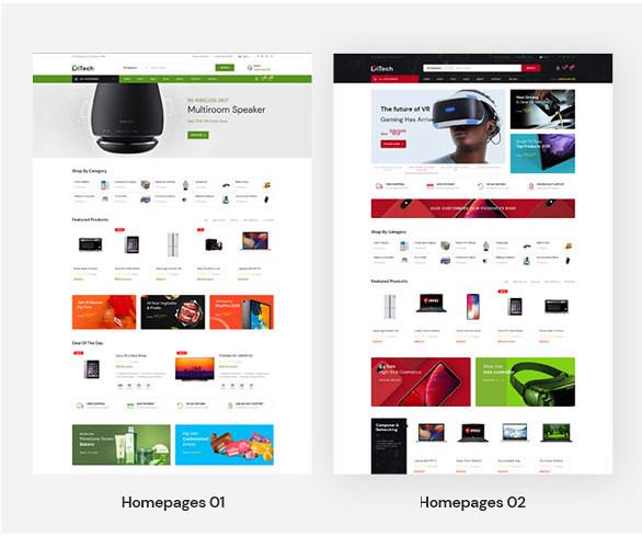 Leo Ditech Electronics & Gadgets PrestaShop Theme - 2 homepage demos