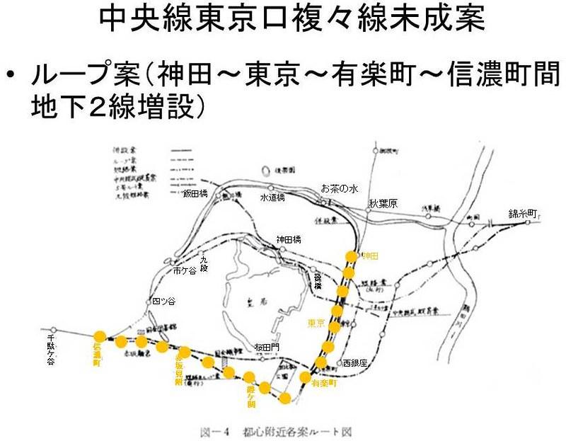 中央線東京口複々線化未成線案 (2)