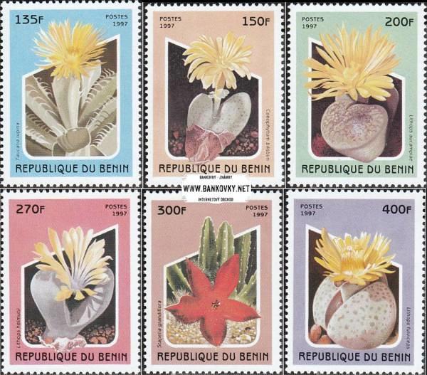 Známky Benin 1997 Sukulenty razítkovaná séria