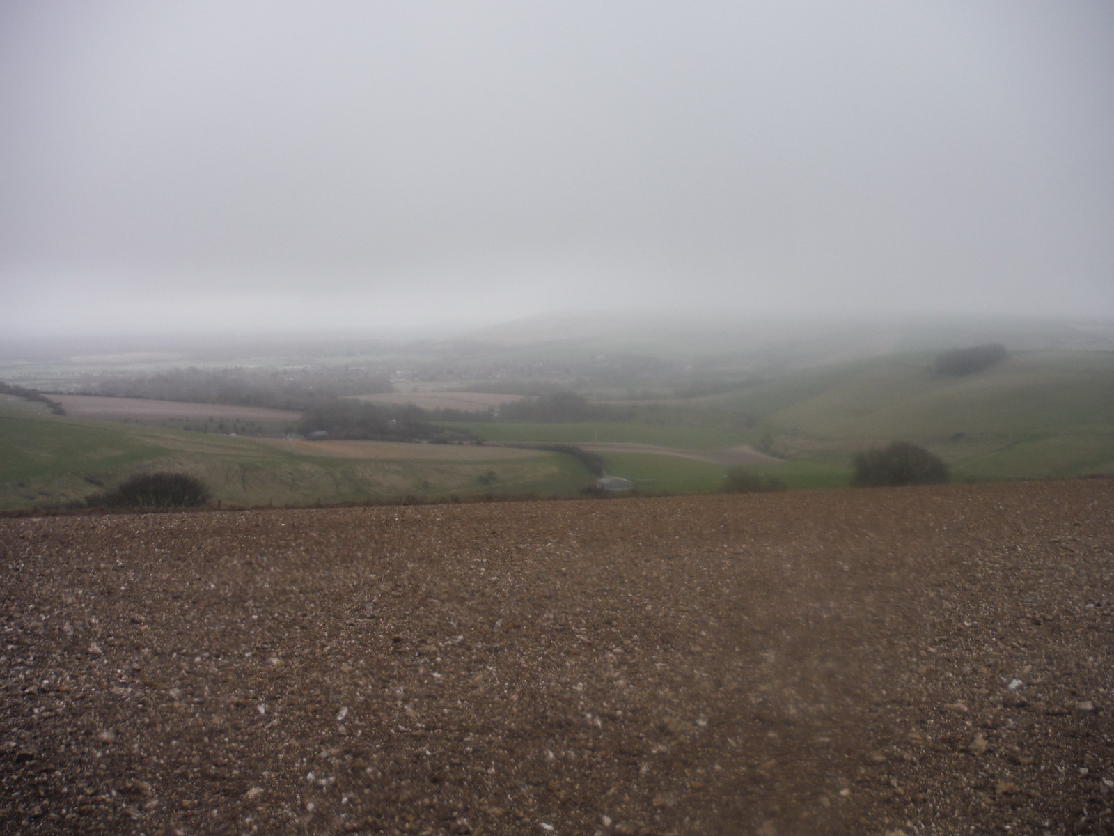 Moody Shot into Steyning Bowl towards upper Beeding SWC Walk 26 - South Downs Way: Amberley to Shoreham-by-Sea or Lancing