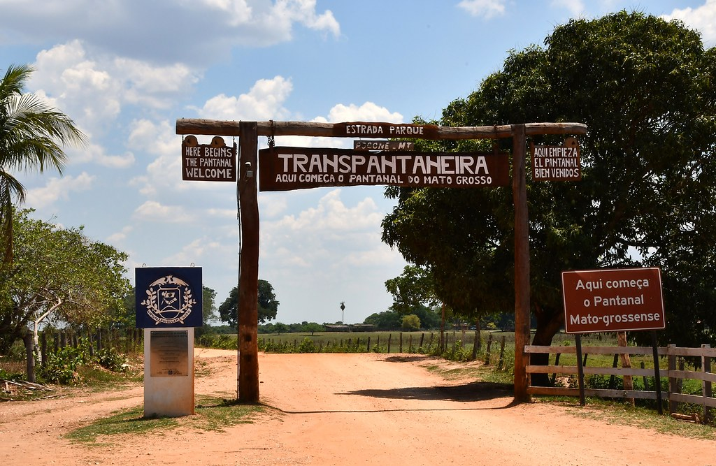 The Transpantaneira, Mato Grosso, into The Pantanal Wetlands.