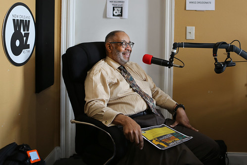 Dr. Michael White at WWOZ - March 11, 2020. Photo by Bill Sasser.