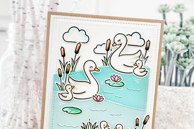 swan soiree (Lawn Fawn inspiration week)