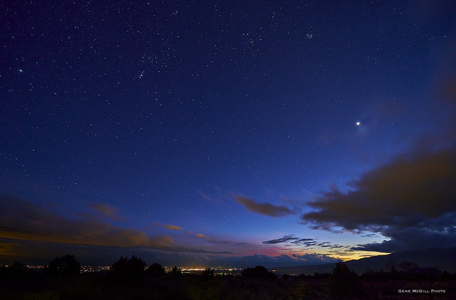 Sirius, Orion, Venus after sunset