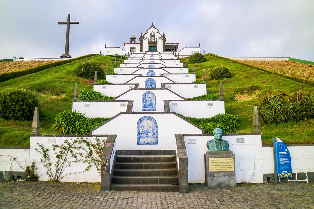 Iglesia Nossa Senhora da Paz en Vila Nova do Franca en Sao Miguel