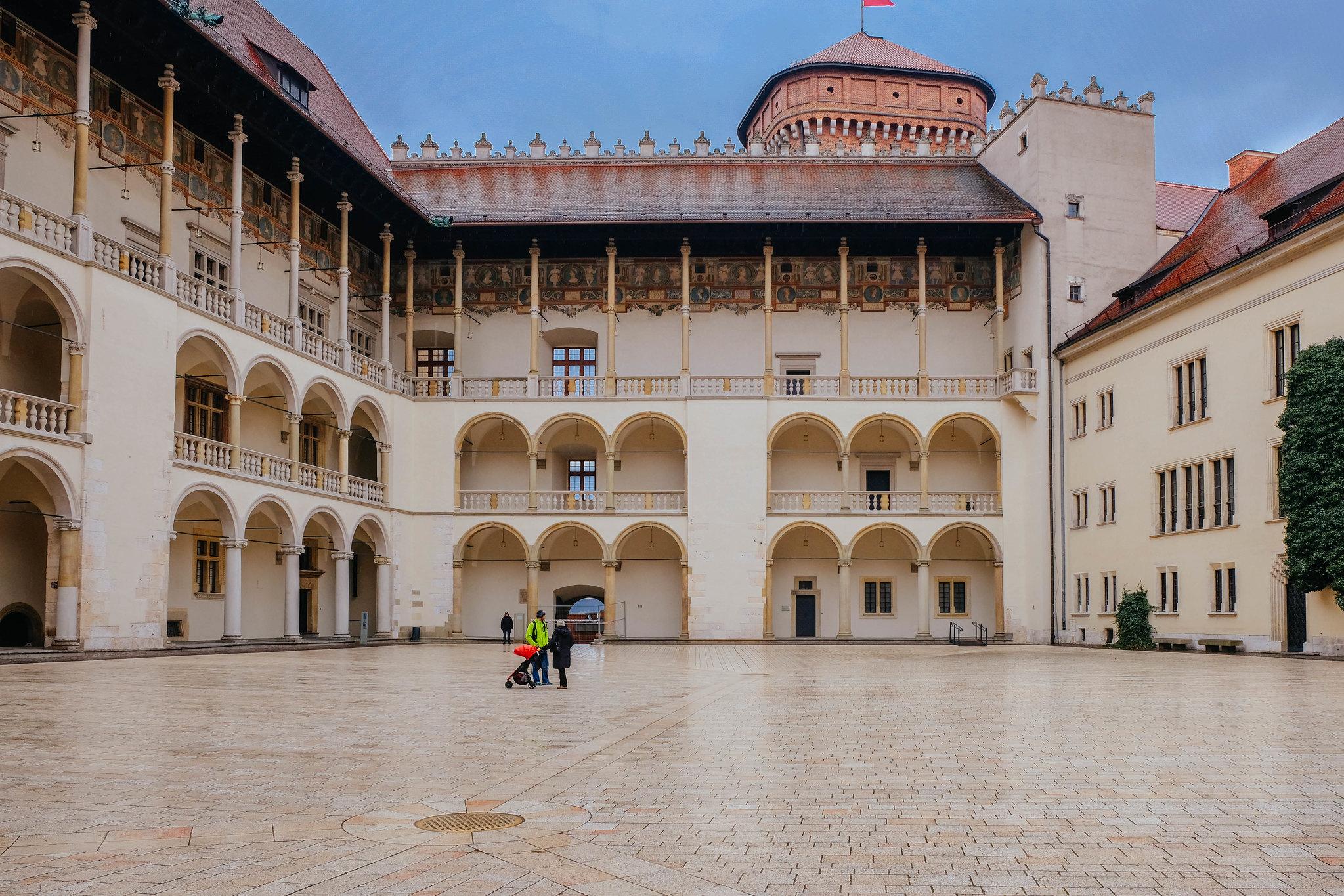 Inside Wawel Castle