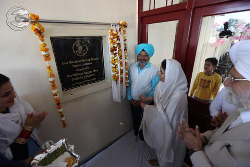 Her Holiness inaugurated Jhande Ludhia na Bhawan