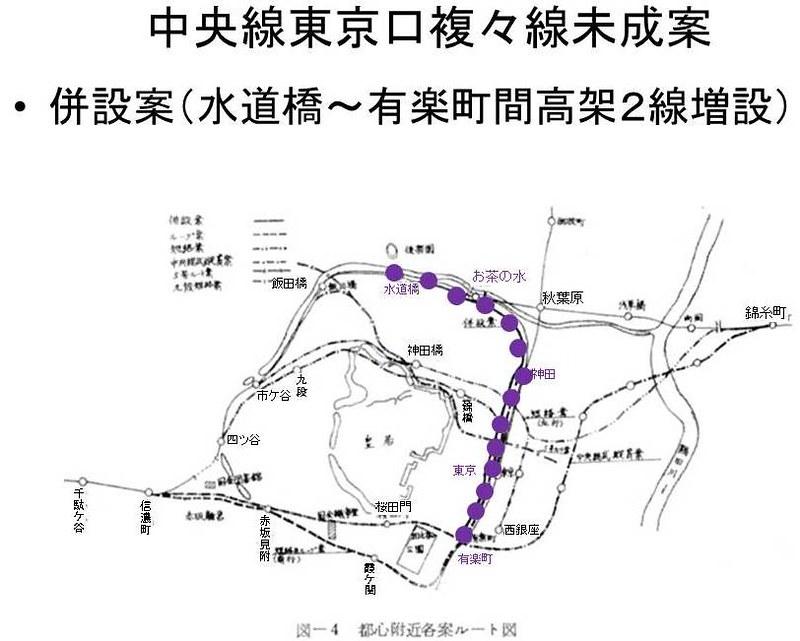 中央線東京口複々線化未成線案 (1)