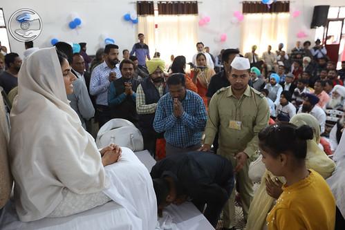 Namaskar at Jhande Satsang Bhawan, Jhande, Ludhiana