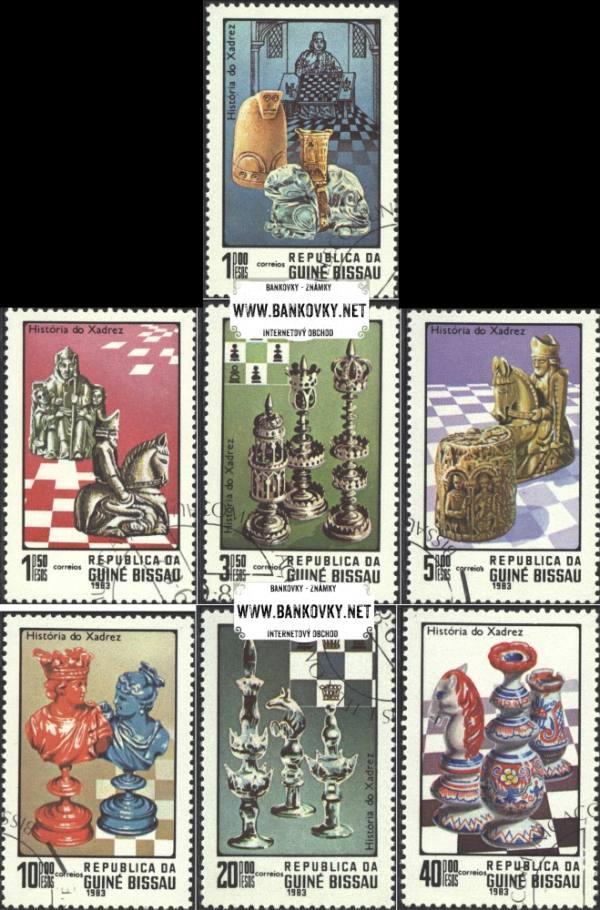 Známky Guinea-Bissau 1983 Šach - razítkovaná séria